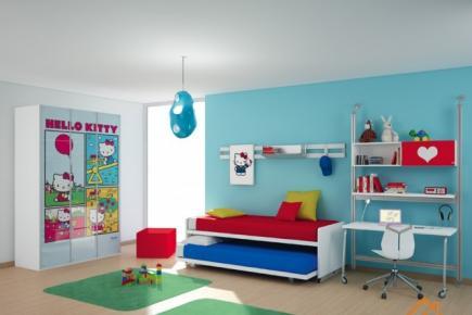 漫画气息的儿童房设计